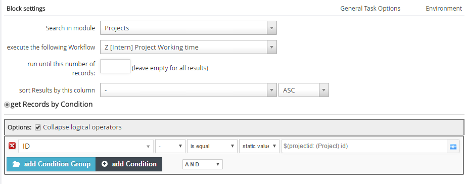 Execute Workflow with external Record